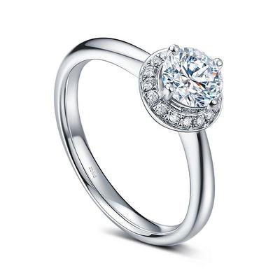 璀璨之夜 24分白18K金钻石女戒