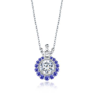 北极光 星环 33分白18K金钻石吊坠