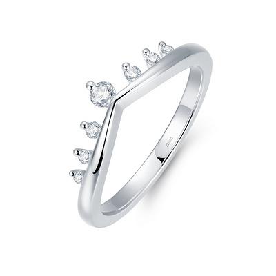 圣枝(护戒) 4分铂950钻石女戒