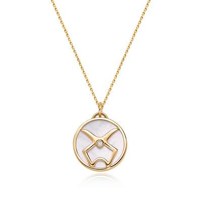 HOROSCOPE星座系列金牛座钻石套链 1分黄18K金钻石套链
