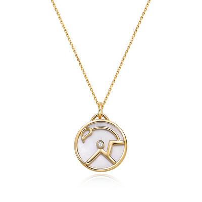 HOROSCOPE星座系列天蝎座钻石套链 1分黄18K金钻石套链