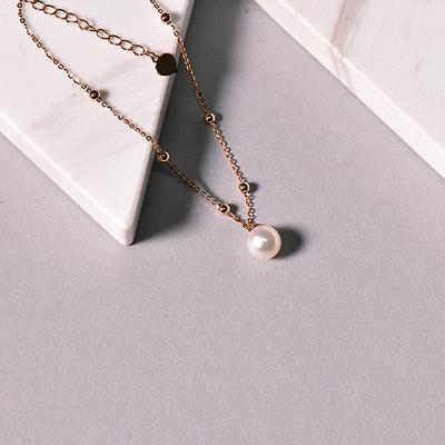 直播珍珠配饰款2020060411 红18K金手链