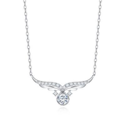 小天使1 11分白18K金钻石套链