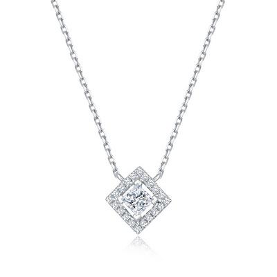 方糖(套链) 10分白18K金钻石套链