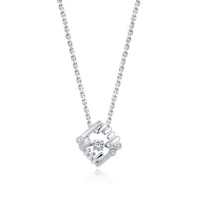 玩伴 5分白18K金钻石吊坠